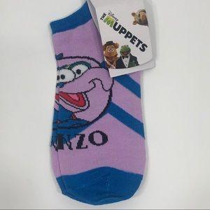 """THE MUPPETS """"Gonzo"""" Footie Socks Sz. 5-10 NEW"""